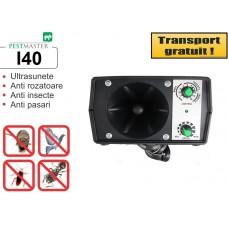 Aparat industrial cu ultrasunete împotriva rozătoarelor, păsărilor și insectelor - Pestmaster I40  400 mp
