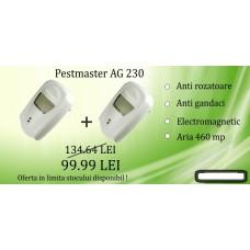 2 x Pest Repeller aparat cu unde electromagnetice anti gândaci, anti rozătoare Pestmaster AG230 230 mp