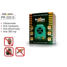 Electronic Pest Repeller cu ultrasunete  PR-220.6 - 360 mp