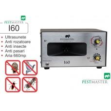 Aparat industrial cu ultrasunete împotriva rozătoarelor, păsărilor și insectelor - Pestmaster I60 - 660 mp