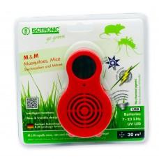 Aparat portabil cu UV (anti țânțari, muște, purici, musculițe de oțet) și ultrasunete (anti șoareci, șobolani) Isotronic MM 77010 30 mp