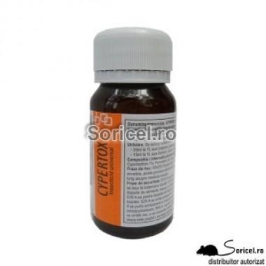 Insecticid universal pentru combaterea insectelor târâtoare și zburătoare – Cypertox 50 ml