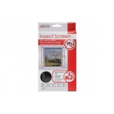 Plasa insecte pentru ferestre 130x150 cm - alba/neagra