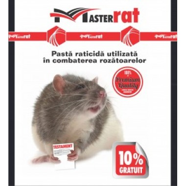 Pastă raticidă roșie pentru combaterea șoarecilor și șobolanilor MasterRat 100 g