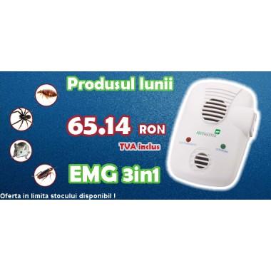 Aparat anti dăunători Repel-EMG 3 în1 (cu unde electromagnetice) 200 mp