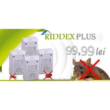 Aparat cu unde electromagnetice Riddex Plus, 4 bucăți la 99,99 ron cu TVA