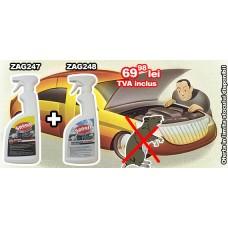 Pachet promotional Spray anti rozătoare auto ZAG 247 + Spray pentru îndepărtare miros rozătoare ZAG 248
