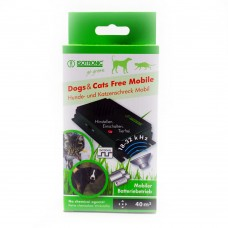 Aparat portabil cu ultrasunete pentru alungarea jderilor și dihorilor, a insectelor, câinilor și pisicilor Free Mobile 70626 40 mp