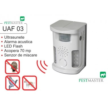 Bird Ultrasound Repeller Pestmaster UAF03 anti păsări, anti rozătoare, anti animale
